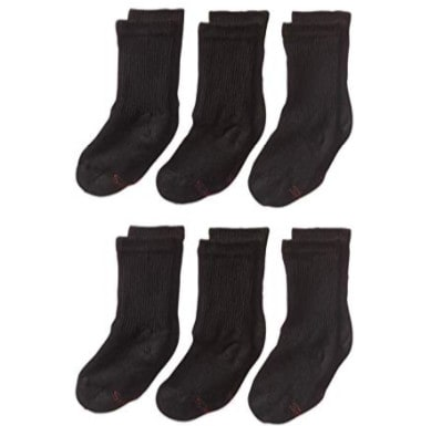 Hanes Ultimate Boys' Big 12-Pack Crew Socks, Small 4.5-8.5 Now .50 (Was .49)