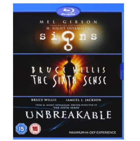 M Night Shyamalan Collection (Signs/The Sixth Sense/Unbreakable) Now .96 (Was .99)
