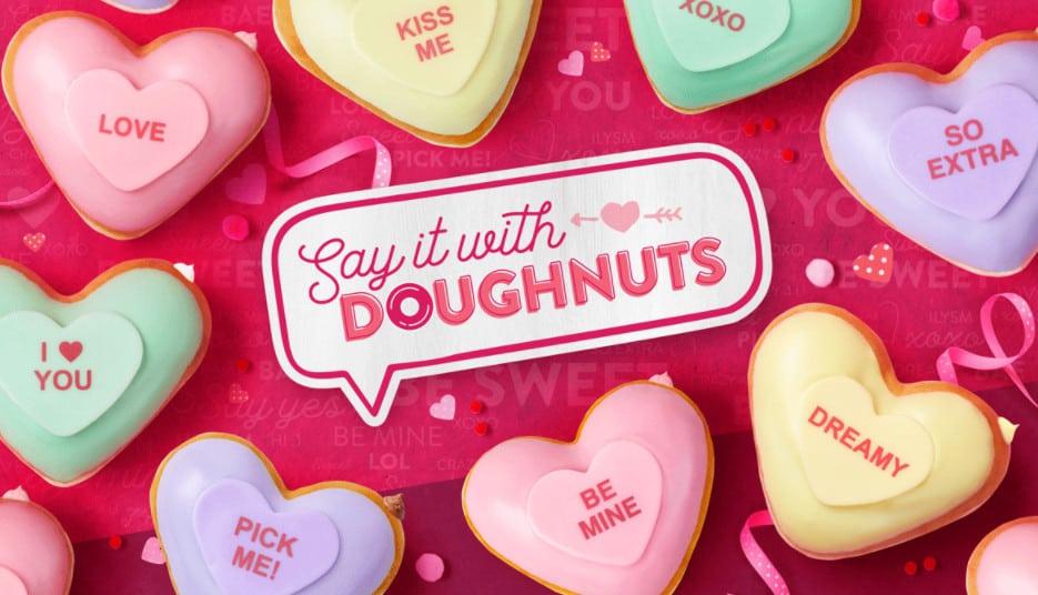 Free Heart Doughnut at Krispy Kreme