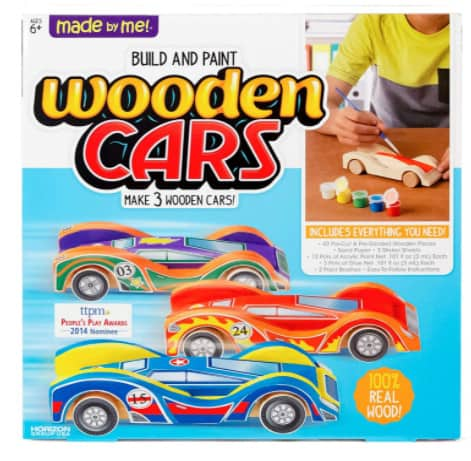 Build & Paint Your Own Wooden Cars Now .63 (Was .99)