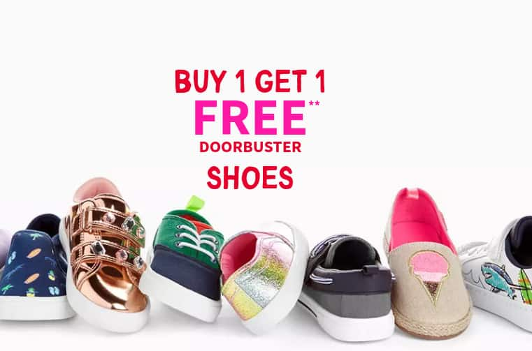 Carter's Shoes Buy One Get One Free - From  Per Pair
