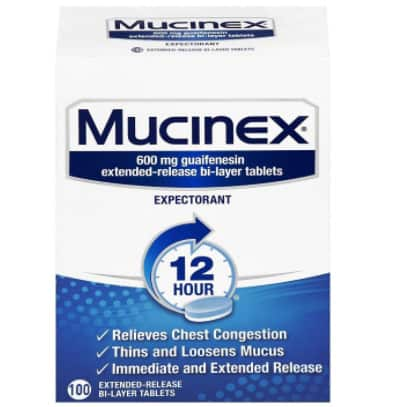 Mucinex 12 Hour Extended Release Tablets, 100ct Now .57 (Was .91)