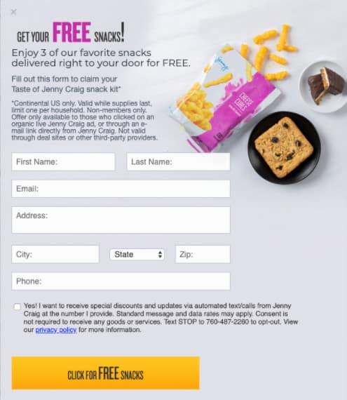FREE Taste of Jenny Craig Kit