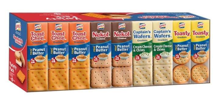 Lance Sandwich Crackers, Variety Pack, 36-Count Now .32