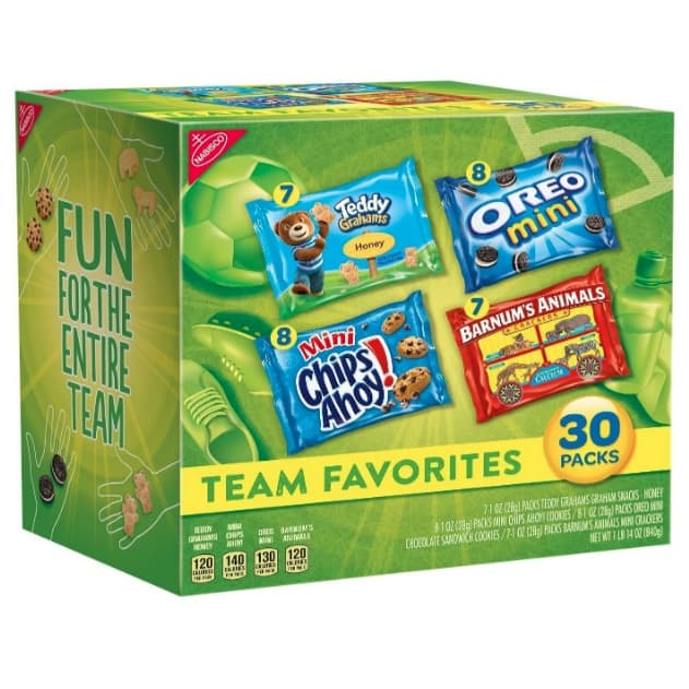 Nabisco Team Favorites Mix Variety Pack 30-Count Now