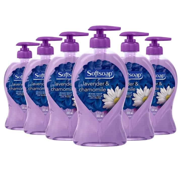 Softsoap Liquid Hand Soap, Lavender and Chamomile 6-Pack Now .97 (Was .94)