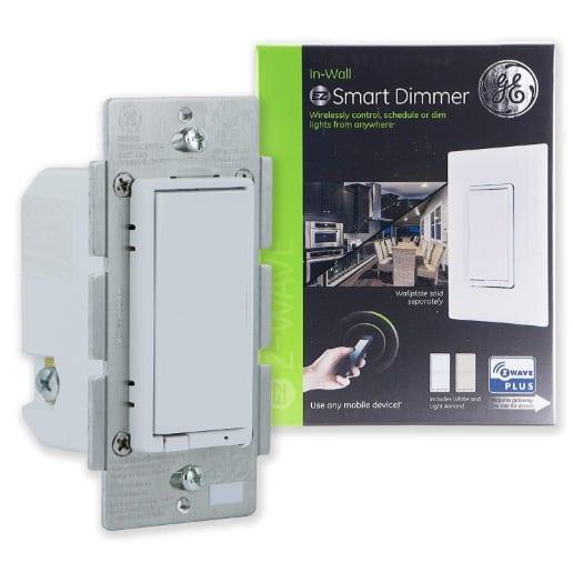 GE Enbrighten Light Almond Z Wave Plus Smart Light Dimmer Now .09
