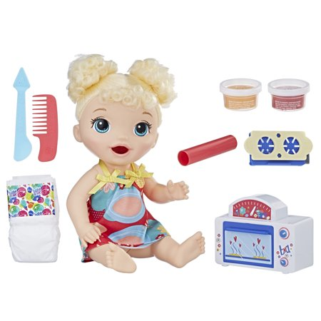 Baby Alive Snackin' Treats Baby (Blonde Curly Hair) Now $14.99 (Was $29.99)