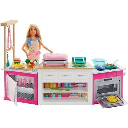 Barbie Ultimate Kitchen Cooking & Baking Playset with Chef Doll