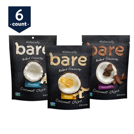 Bare Baked Crunchy Coconut Chips Variety Pack 6-Count Now $5.13 (Was $16.65)