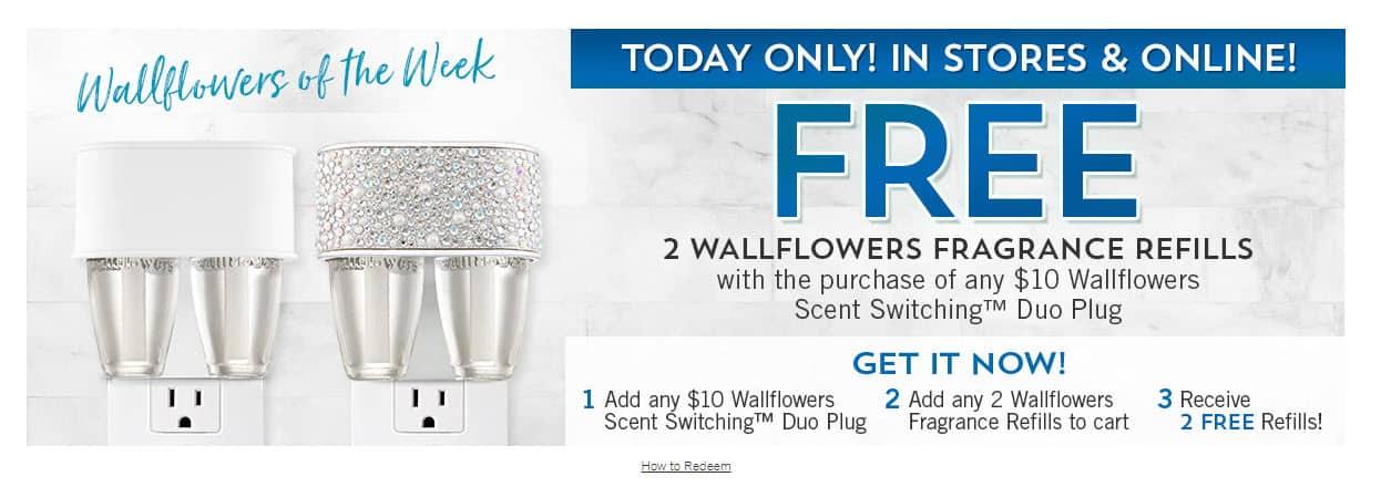 FREE Bath & Body Works Wallflowers Fragrance Refills