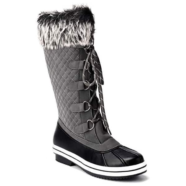 Women's Waterproof Faux Fur Lined Zipper Winter Snow Boots Now .99 (Was .99)