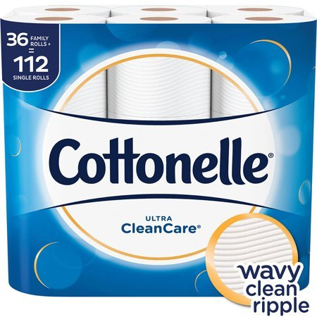 Cottonelle Soft, strong and effectiveness Ultra Clean Care Toilet Paper, 36 Family Rolls
