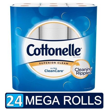 Cottonelle Ultra CleanCare Toilet paper, 24 Mega Rolls (=96 Regular Rolls)