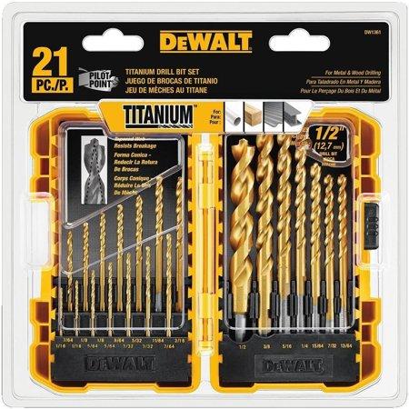 DEWALT Titanium Drill Bit Set 21-Piece Now $29.11 (Was $49.72)