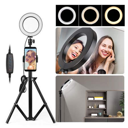 """8"""" Ring Light with Stand & Cell Phone Holder Now $17.29 (Was $35.99 )"""