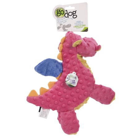 goDog Dragon With Chew Guard Technology Tough Plush Squeaker Dog Toy Now $2.49