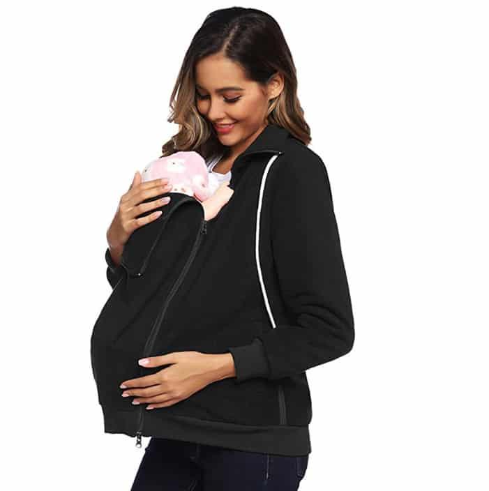 Maacie Women's Fleece Zip Up Maternity Baby Carrier Jacket Now .99 (Was .99)