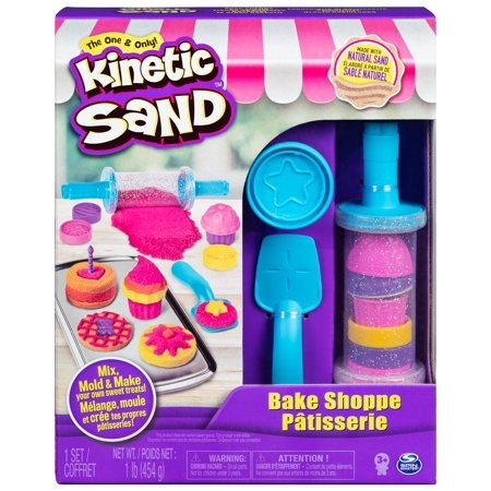 Kinetic Sand, Bake Shoppe Playset with 1lb of Kinetic Sand and 16 Tools and Molds, for Ages 3 and Up