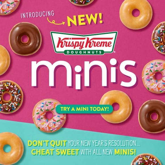 Free Krispy Kreme Mini Doughnut Every Monday in January