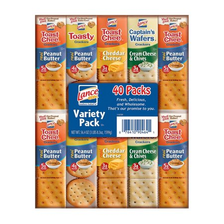 Lance Sandwich Crackers, Variety Pack, 36-Count Now $8.32