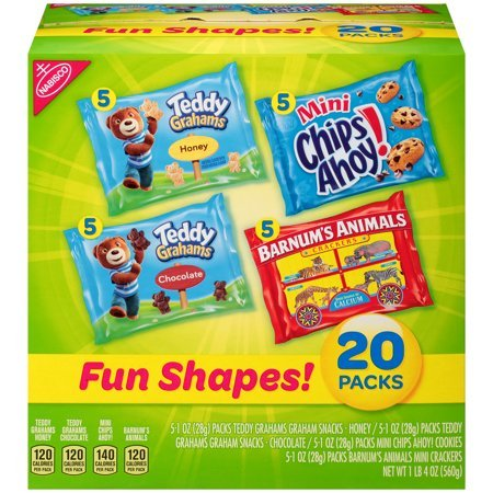 Nabisco Fun Shapes! Cookies & Crackers Variety Pack, 1 Oz., 20 Count