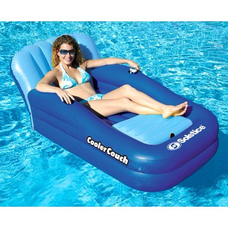 New Swimline Solstice 15181SF Swimming Pool Inflatable Float Cooler Couch Lounge