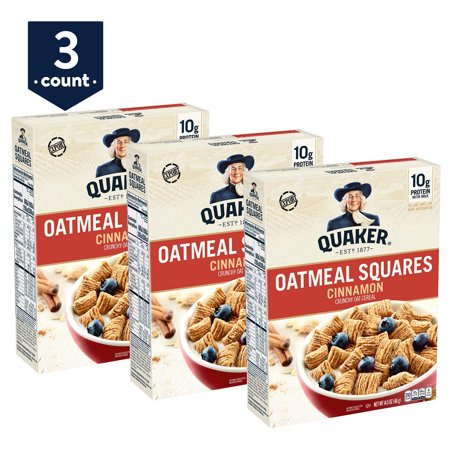 3-Pack Quaker Oatmeal Squares Only $5.67