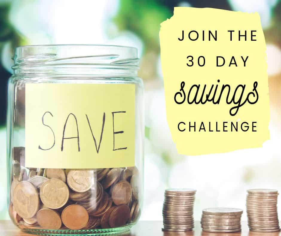 FREE Printable 30 Day Savings Challenge