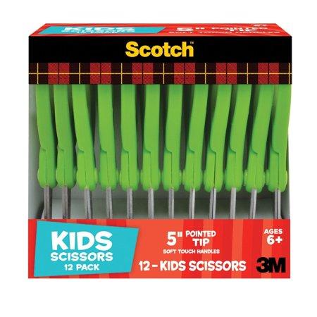 Scotch 5-Inch Kid Scissors, 12 Count Now $4.98 (Was $15.53)