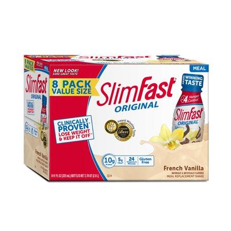 SlimFast Advanced Energy Vanilla Shakes - 12 Count Now $12.94