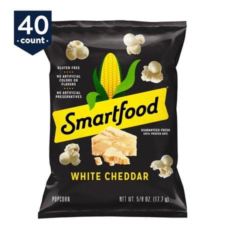 Smartfood White Cheddar Flavored Popcorn, 0.625 oz Bags, 40 Count
