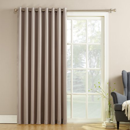 Sun Zero Barrow Energy Efficient Sliding Patio Door Curtain Now $5.02 (Was $35)