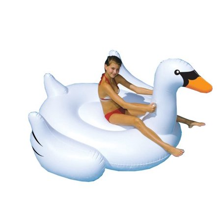 Swimline Giant Inflatable Swan Pool Float Now $9.99 (Was $18)