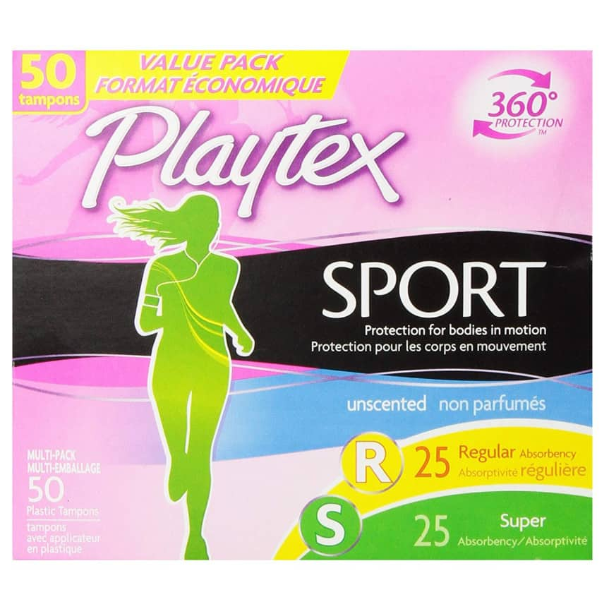 Playtex Sport Tampons with Flex-Fit Technology - 50 Count Now .72 (Was .99)