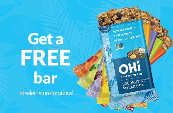 Free OHi Superfood Snack Bar Product Coupon