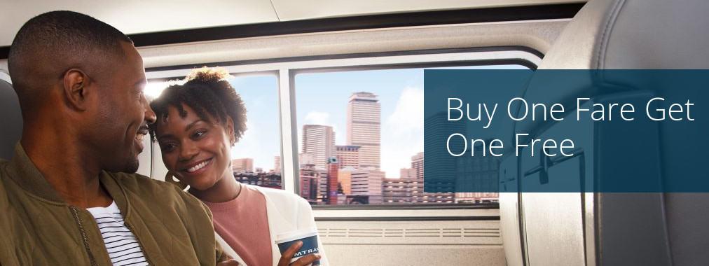 Buy One Get One Free Amtrak Train Tickets