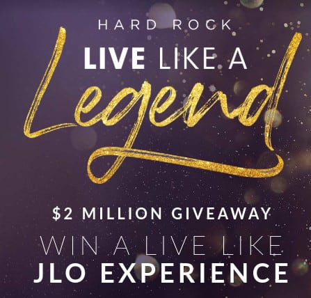 Hard Rock Live Like a Legend Sweepstakes -  Million in Prizes