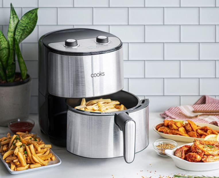 Cooks 4.3 Quart Stainless Steel Air Fryer Now .99 (Was 0)
