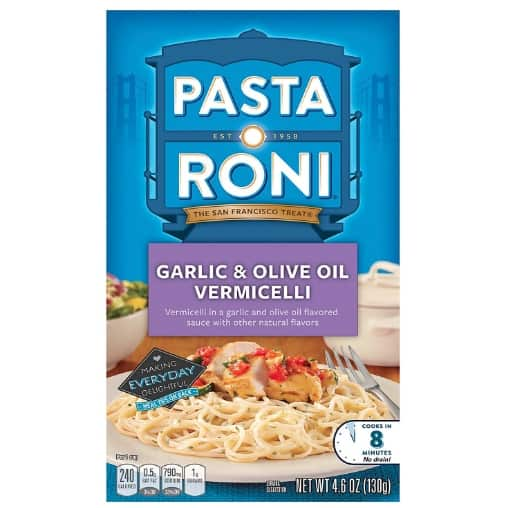 Pasta Roni Garlic & Olive Oil Vermicelli Mix 12-Pack Now .41