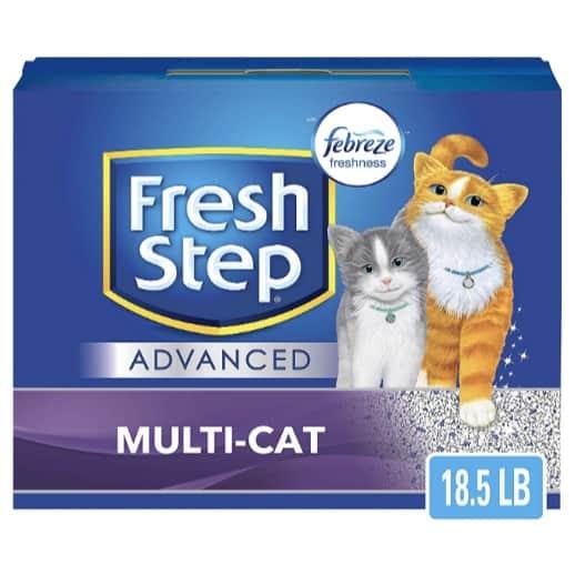 Fresh Step Advanced Multi-Cat Clumping Cat Litter Now .97 + MORE Cat Litter Deals