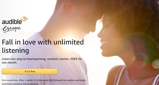 FREE One Month Audible Escape Membership