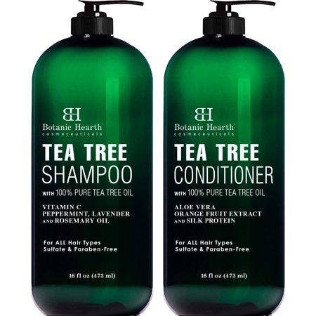 Botanic Hearth Tea Tree Shampoo and Conditioner Set - 2 bottles 16 fl oz each Now $11.98 (Was $25.98)