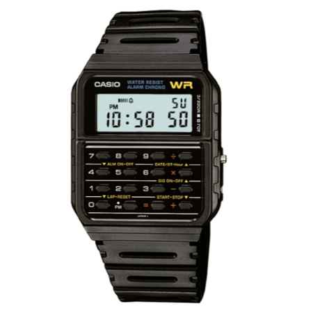 Casio Men's Vintage Calculator and Calendar Watch CA53W-1