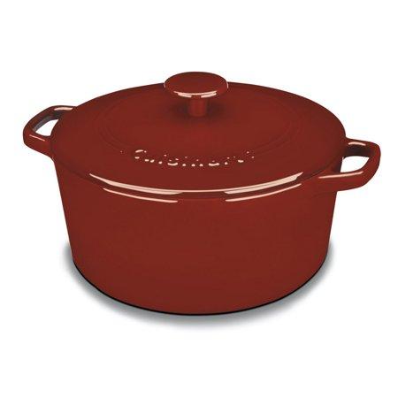 Cuisinart Cast Iron Casserole, Terracotta Orange, 5.5 Quart Now $54.99 (Was $99.99)