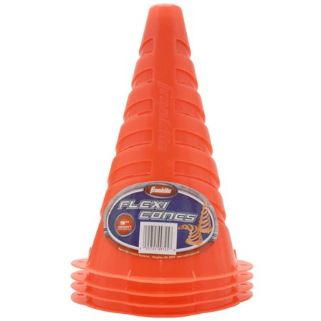 """Franklin Sports 9"""" Flexible Soccer Cones 4 Pack Now $4.99 (Was $13.99)"""