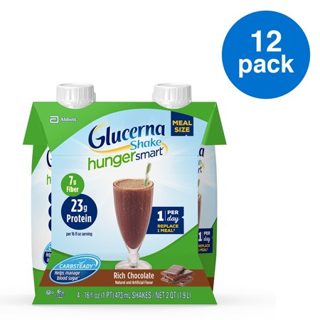 Glucerna Hunger Smart Meal Size Nutritional Shake 12 Count Now $19.90 (Was $32.97)