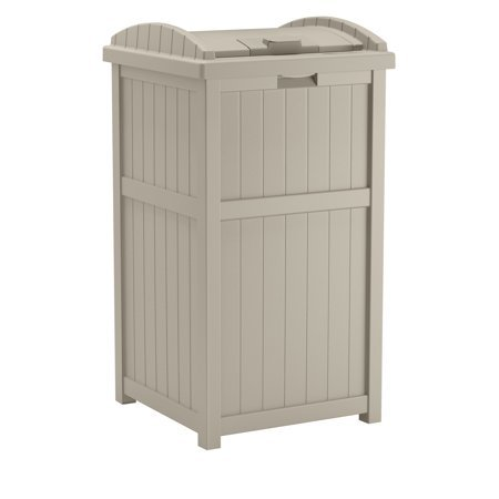 Suncast 33 Gallon Hideaway Outdoor Trash with Lid Now $39 (Was $59.99)
