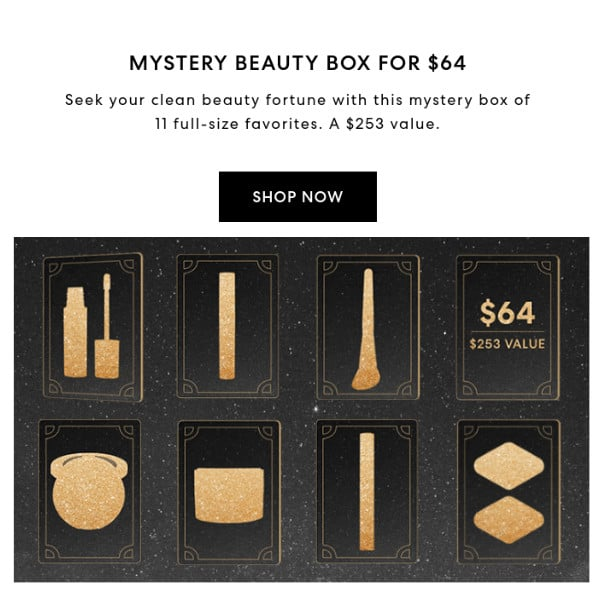 Bare Minerals Mystery Box ONLY  Shipped (3 Value)