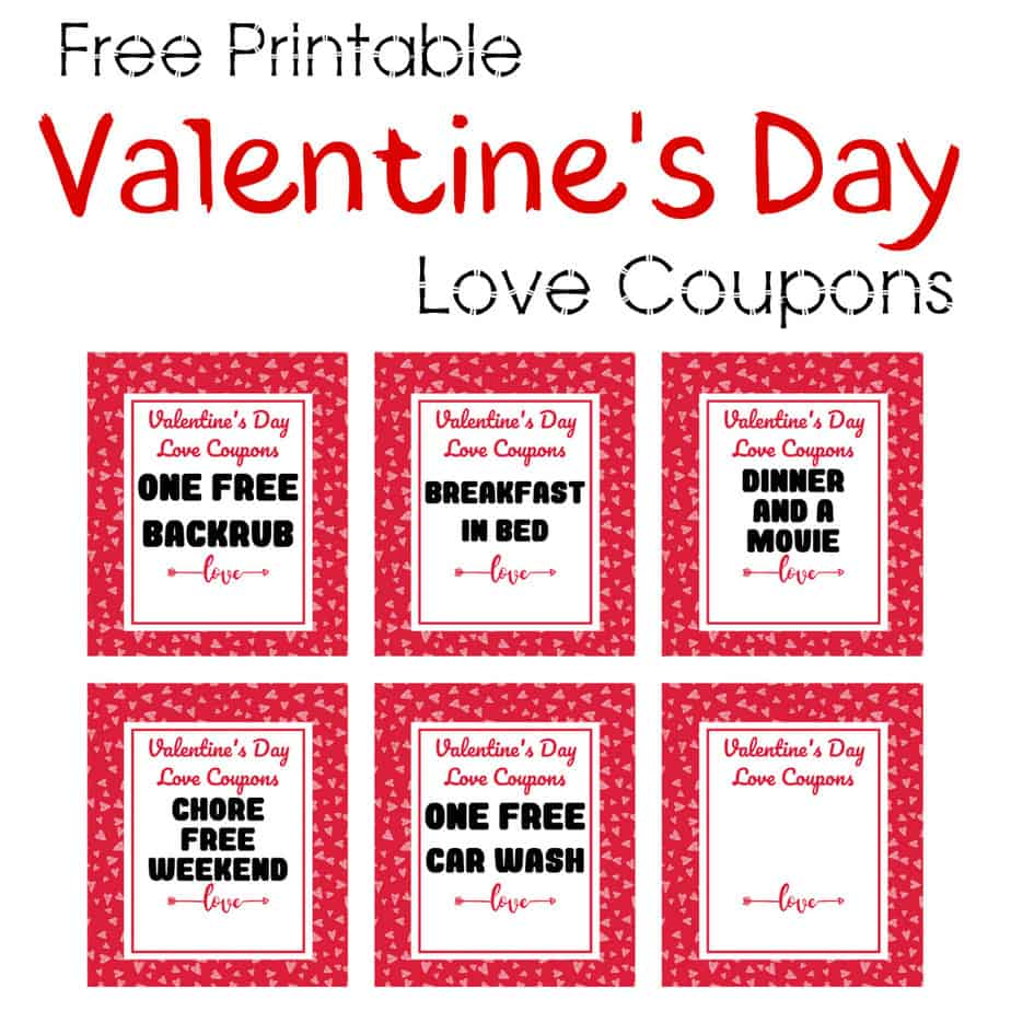 Free Printable Valentine's Day Love Coupons